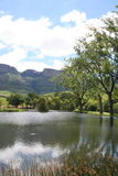 Lake in the Drakensberg Stock Photo