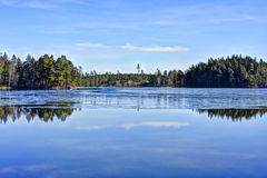 Lake of dreams and ice Royalty Free Stock Image