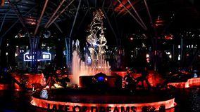 Lake of dreams, light show stock video footage
