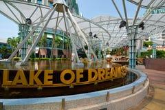 Lake of Dreams. Resorts World Sentosa. Sentosa Island. Singapore. Sentosa is a popular island resort in Singapore royalty free stock photo