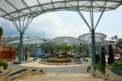 Lake of Dreams. Resorts World Sentosa. Sentosa Island. Singapore. Sentosa is a popular island resort in Singapore royalty free stock photography