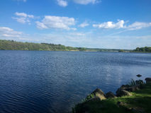 Lake Dreifelder Weiher. German Lake in Summer Dreifelder Weiher Stock Photography