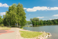 Lake Druskonis. Resort Druskininkai Stock Photo