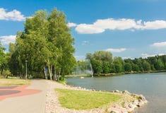 Lake Druskonis. Resort Druskininkai Stock Photo