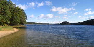 The lake Dubingiai Royalty Free Stock Photos