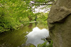 Lake in Dublin park Stock Photography