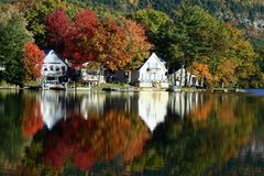 Lake Dunmore in the Fall stock photography