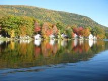 Lake Dunmore Foliage Royalty Free Stock Images