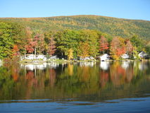 Lake Dunmore reflections Royalty Free Stock Photo