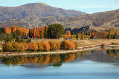 Lake dunstan reflection Royalty Free Stock Images