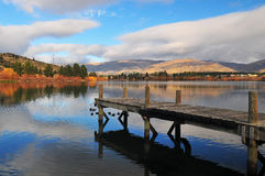 Lake Dunstan. In the South Island New Zealand Stock Images