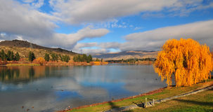 Lake Dunstan. In the South Island New Zealand Stock Photos