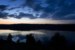 Lake at dusk. Royalty Free Stock Photography