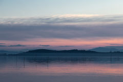 Lake at dusk Stock Photo