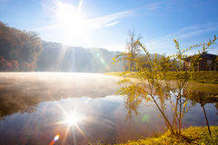 Lake in the early autumn morning Stock Photography