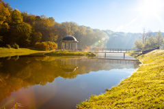 Lake in the early autumn morning Stock Image