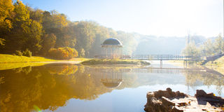 Lake in the early autumn morning. In Kiev Stock Image
