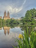 At the Lake in early morning. Lake in Central Park, New York City in the early morning Royalty Free Stock Image