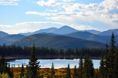Lake Echo in the Colorado Rocky Mountains royalty free stock photography