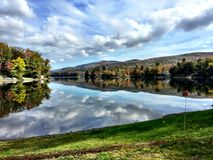 Lake Eden Vermont. Photo of a beautiful lake in Vermont Royalty Free Stock Photography