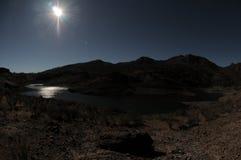 Lake Edge. Near the Desert In Gran Canaria Island, Spain stock image
