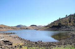 Lake Edge. Near the Desert In Gran Canaria Island, Spain royalty free stock photos