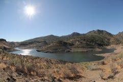 Lake Edge. Near the Desert In Gran Canaria Island, Spain stock photos