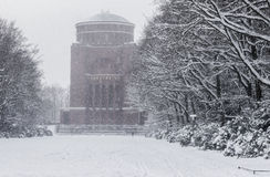 Lake Effect Snow in Hamburg Stock Photo