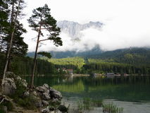Lake Eibsee scenery at Zugspitze mountain Stock Photography