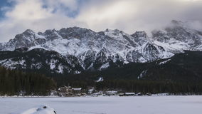 Lake Eibsee in a timelapse movie stock video