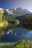 Lake Eibsee with Zugspitze in Bavaria Stock Photos