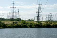 The lake of electricity Stock Photo