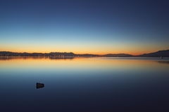 Lake elsinore's morning. Morning view of lake elsinore is a purely surprise to me..peaceful is the word Royalty Free Stock Images