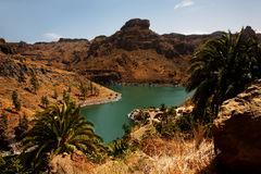 Lake Embalse de Soria. Embalse de Soria, Gran Canaria, Canary Islands, Spain Royalty Free Stock Photo