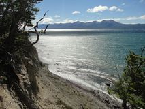 Lake Emerald Coast tierra del fuego Royalty Free Stock Photography