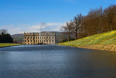 Lake, Emperor Fountain and Chatsworth House Stock Images