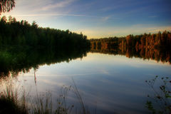 Lake of end of summer Royalty Free Stock Photos