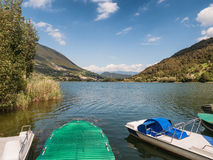 Lake Endine in northern Italy, panorama Royalty Free Stock Image