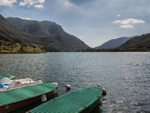 Lake Endine in northern Italy, panorama Royalty Free Stock Images