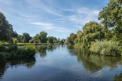 A Lake in the English Countryside in the summer Royalty Free Stock Photography