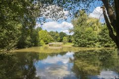 A Lake in the English Countryside in the summer Stock Image