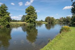 A Lake in the English Countryside in the summer Stock Photo