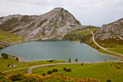 Lake Enol Stock Image