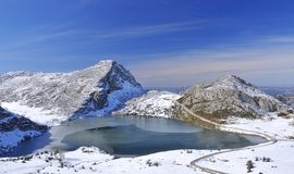 Lake Enol, Asturias, Spain. Stock Image