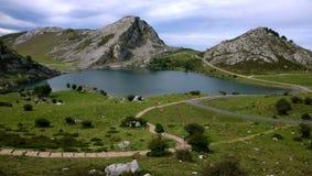 Lake Enol in Asturias, Spain Stock Photography