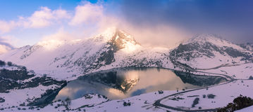 Lake Enol, Europe Peaks,Asturias Stock Images