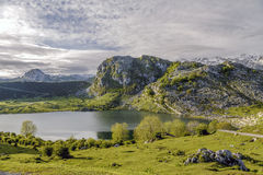 Lake Enol Royalty Free Stock Photography