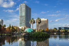 Lake Eola in a beautiful day Stock Photo