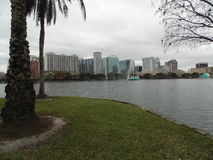 Lake Eola and Downtown Orlando Royalty Free Stock Images