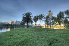 Lake Eola Park. In Orlando, Florida in the Early Morning Royalty Free Stock Photos